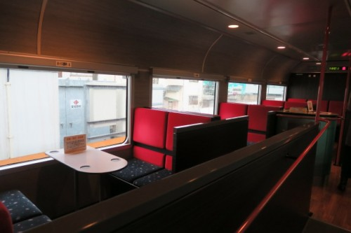 The fancy restaurant space in Kira Kira train