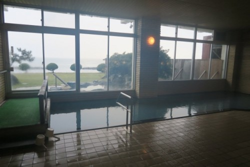 Inside ryokan onsen