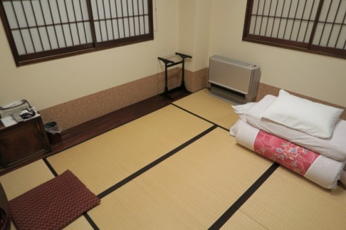 Ryokan Tatami room with Futon set