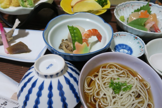 Dinner of the day at this Ryokan
