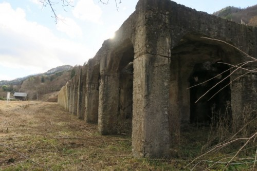 Ooshi station ruins is a railway that had once been used to transport ironstone during world war two.