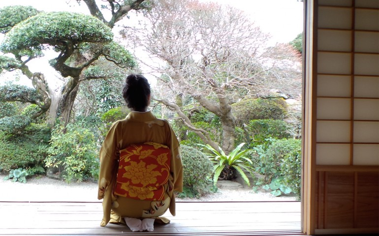 Tea ceremony in an old samurai residence