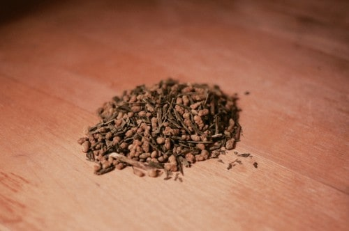 genmaicza is Japanese tea with roasted grains of brown rice.