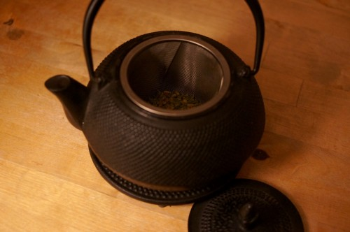 A kettle for Japanese tea