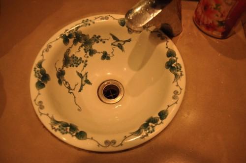 Imari styled sink