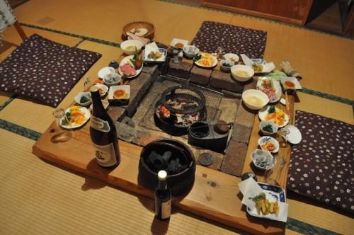 dinner at Homestay in Saga