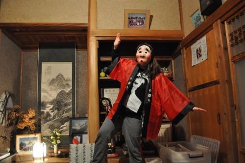 We played dress up using old festival gear Nozaki-san had