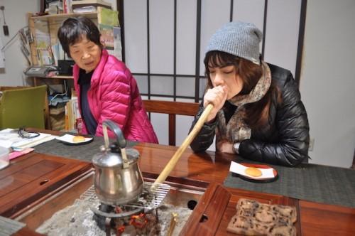 Tea boiling in Saga