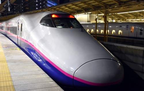Each bullet train looks different - this is the MAX Toki