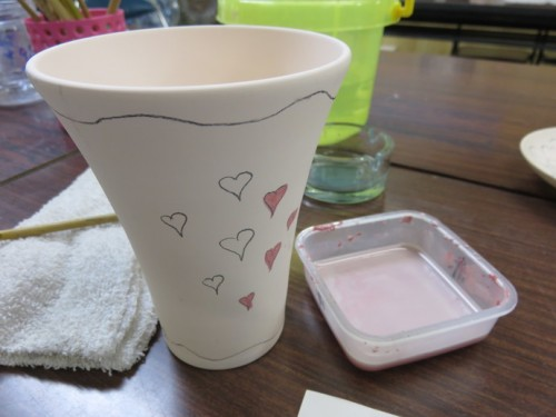 painting ceramics in Arita