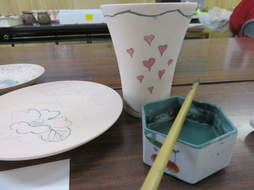 ceramic painting lesson in Arita