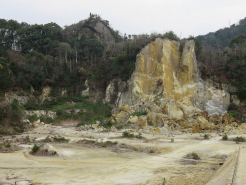 Izumiyama Jisekiba.- the quarry where the material for Arita yaki was taken from.