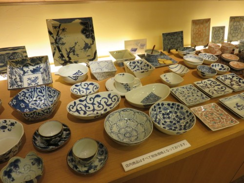 Colours and designs of Arita ceramics