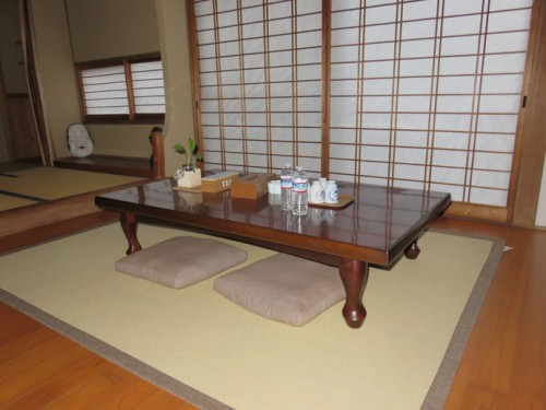 communal area in the guest house of Arita