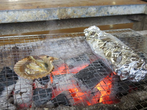 crab being cooked