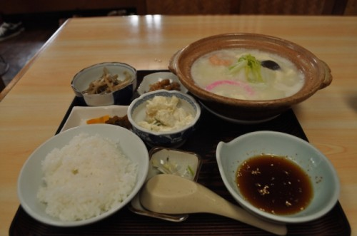 onsen yudofu meal set in Saga