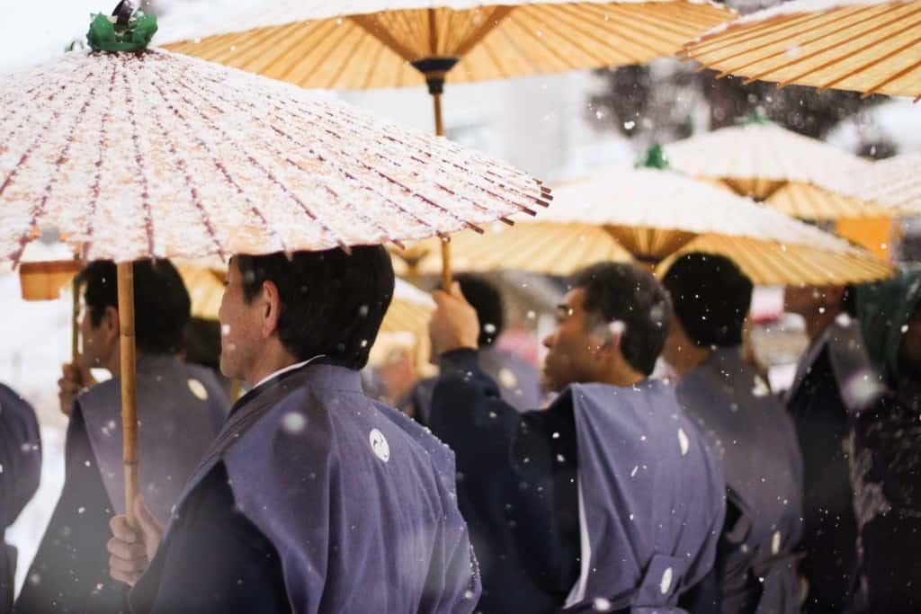 A parade at Sekkyu Hanamizuiwai