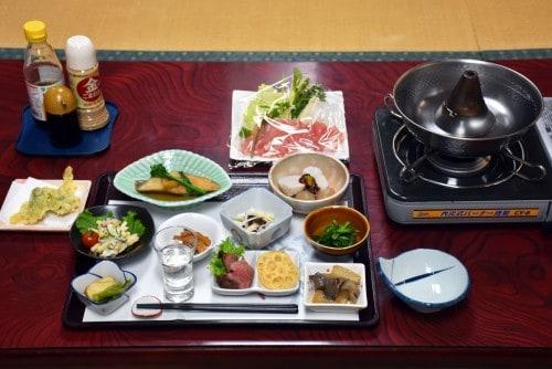 Dinner served, before I started cooking my shabu shabu meat