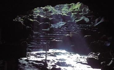 Komakado Kazaana cave in Mt.Fuji