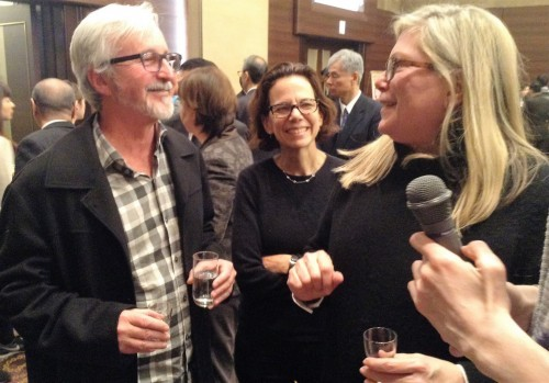 Dana cowin, Robert and Marina sinskey were talking about sake.