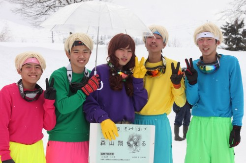 Ryuchel players at Koide international snowball fight