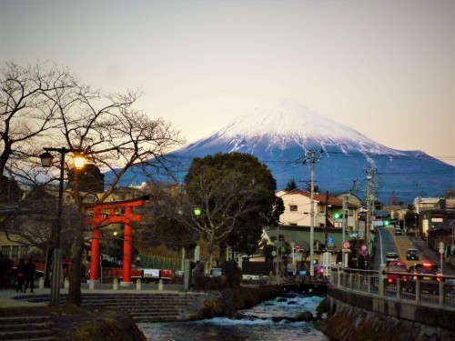 Mount Fuji from Fujinomiya