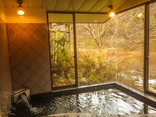 The onsen in Nikko at Turtle Inn