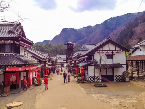 replica of edo period in Nikko