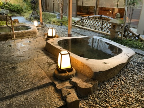The nice open-air hot spring (onsen)