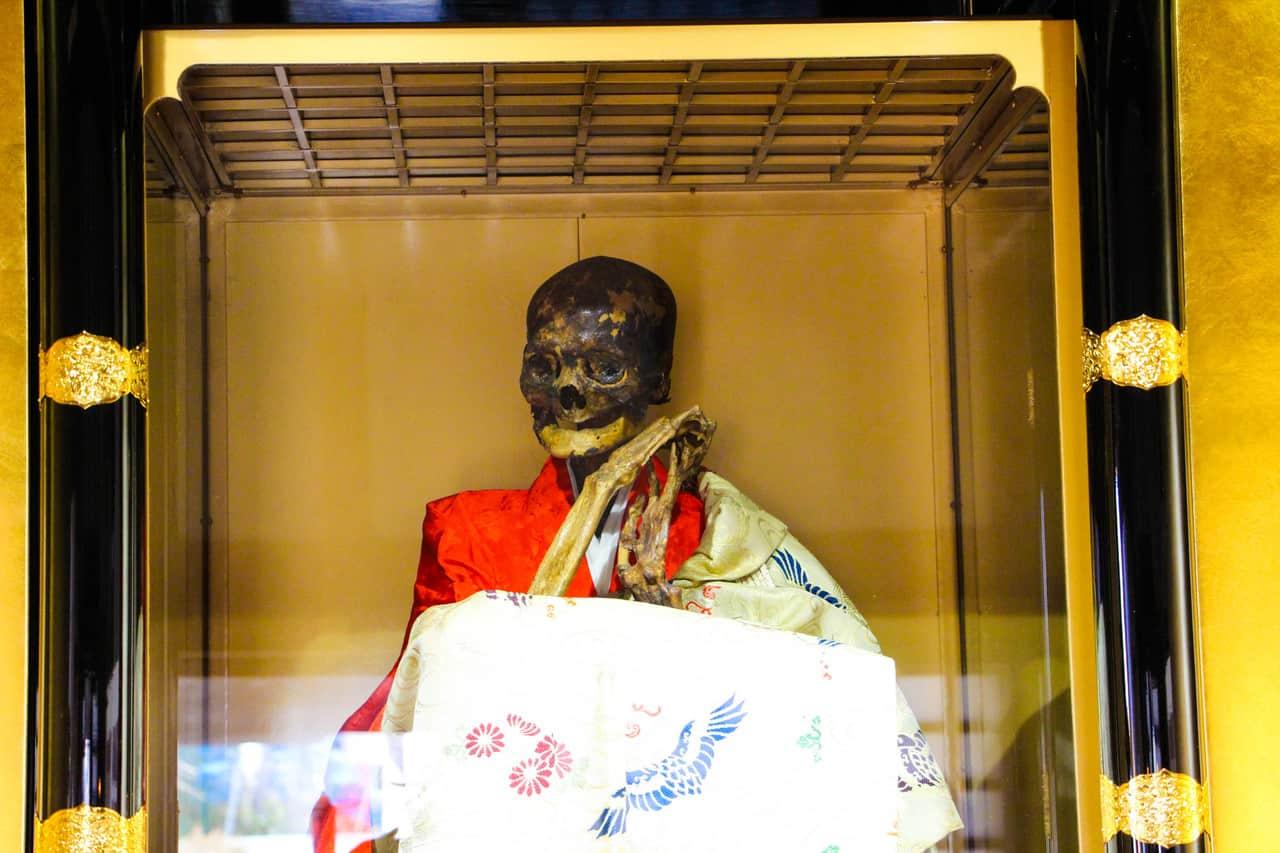 remains of self mummified monk in fukushima