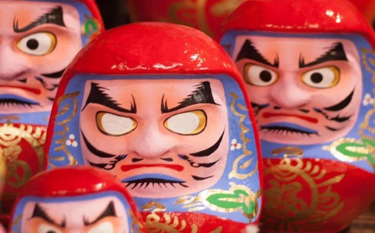 Daruma, Japanese traditional doll