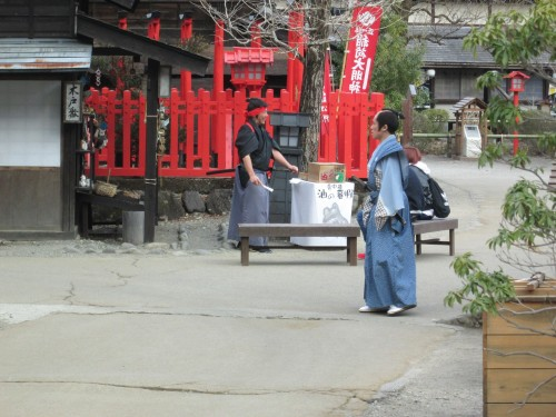Samurai and replica shrines in Nikko