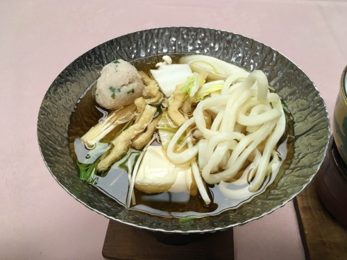 The hotpot with Udon meal