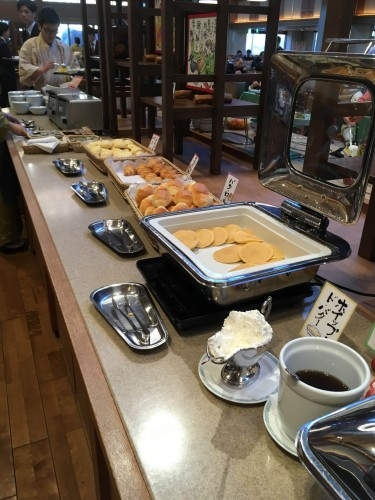 Breakfast was a buffet style meal, or bikingu as it is called in Japanese.