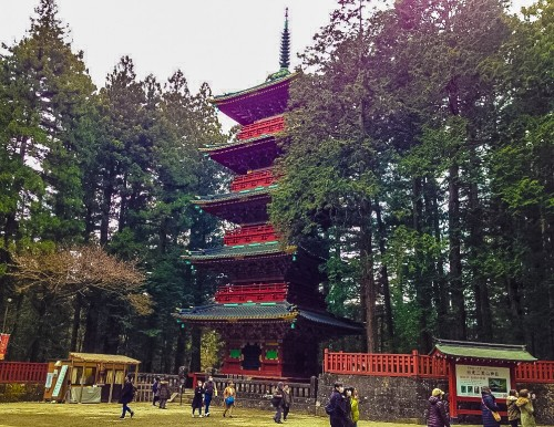 The Gojunoto Pagoda that you will see once you enter Toshogu