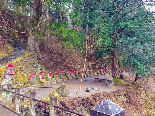 The beautiful Bakejizo statues found in Nikko