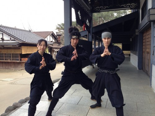 Ninja actors in Edo Wonderland
