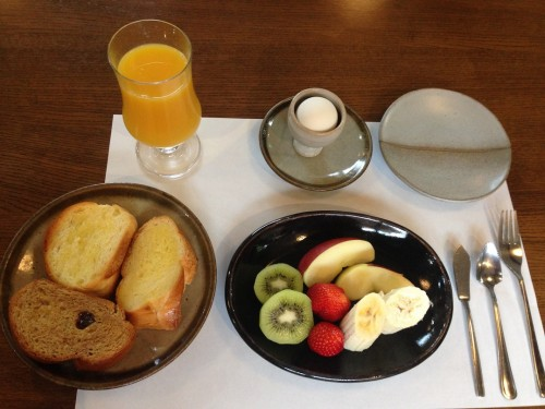 Western style breakfast at B&B in Nikko