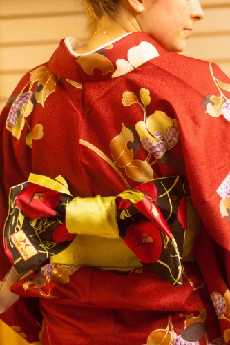 Wearing Japanese traditional costume, Kimono