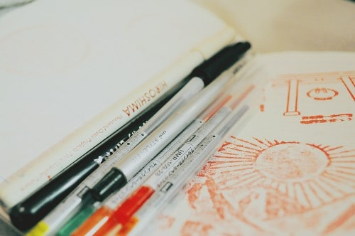 Japanese stationery: pens and notebooks