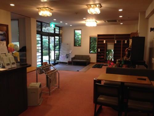 Izumiso ryokan lobby floor, Mino city, Gifu prefecture