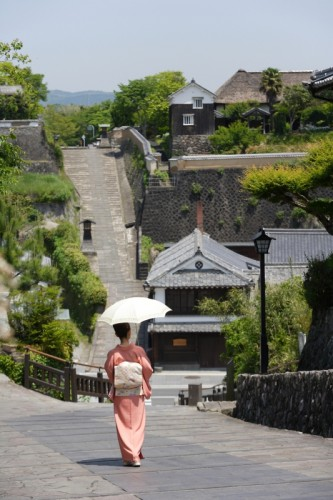 Kitsuki old castle town is in Oita prefecture, Kyushu.