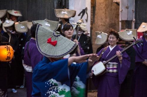 Yoi No Mai (宵乃舞) festival is held in Aikawa town on Sado island.