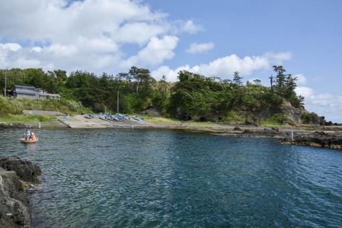 The port of Shukunegi village on Sado island, Niigata, Japan.