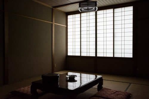 A tatami room of Minshuku Takimoto on Sado island, Niigata, Japan