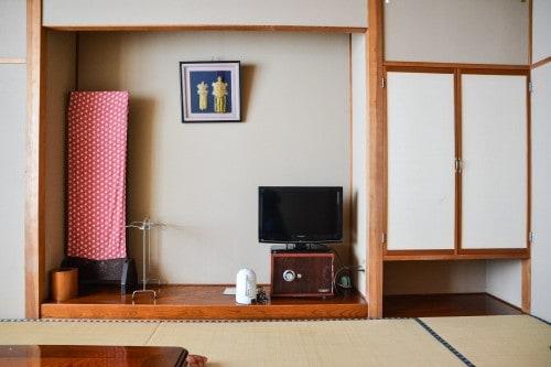 A room at Minshuku Takimoto on Sado island, Niigata, Japan