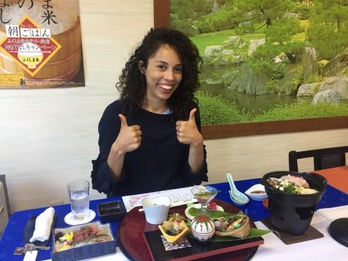Kaiseki meal at the ryokan in Takayu onsen,Fukushima, Japan.