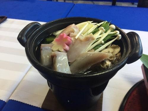 Kaiseki meal at the ryokan in Takayu onsen, Fukushima, Japan.