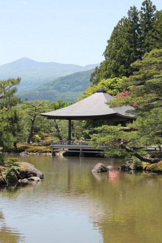 Jorakuen Japanese garden, a peaceful park in Fukushima, Japan