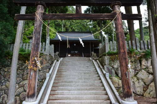 A small shrine located in Hida Furukawa, Gifu prefecture